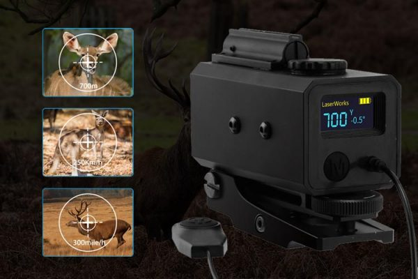 LaserWorks Mini Laser Rangefinder Scope Mate Hunting or Bow-700yard Archey Mode with Angle 3 Sides mountable LE-032