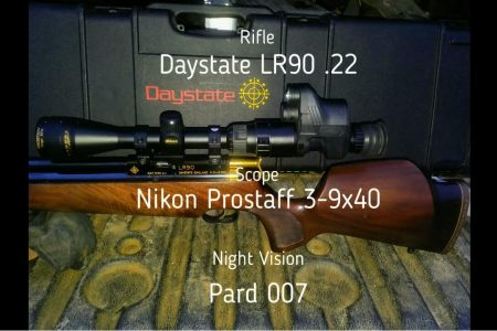 PARD NV007 digital night vision monocular with air rifle for Rat shooting