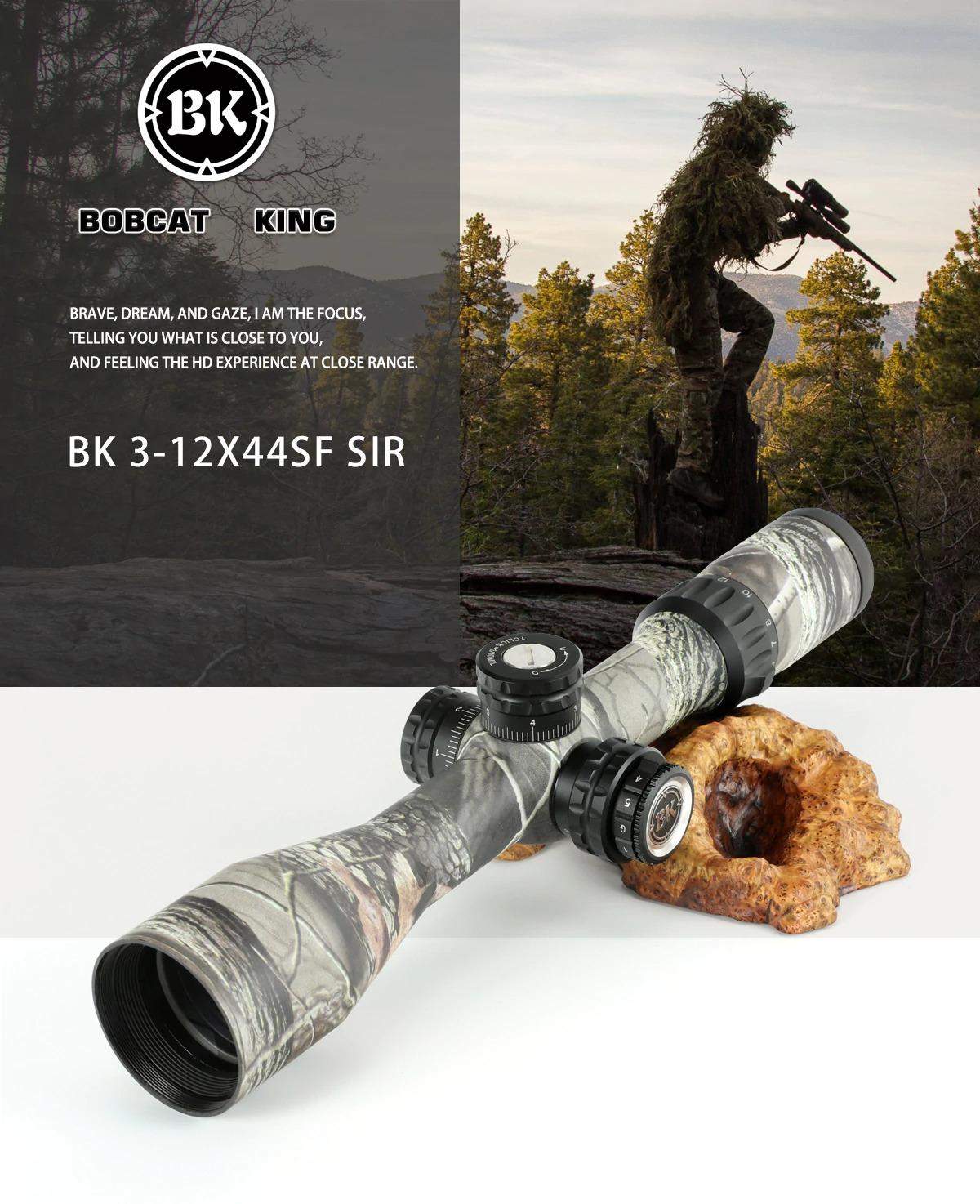 Bobcat King 3-12X44 SFIR Riflescope Airsoft Hunting Rifle Scope 1