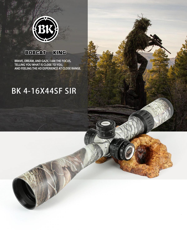 Bobcat King 4-16X44 SFIR Riflescope Airsoft Hunting Rifle Scope 1