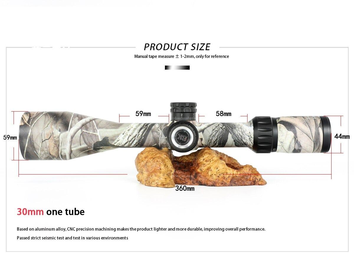 Bobcat King 5-20X50 SFIR Riflescope Airsoft Hunting Rifle Scope 2