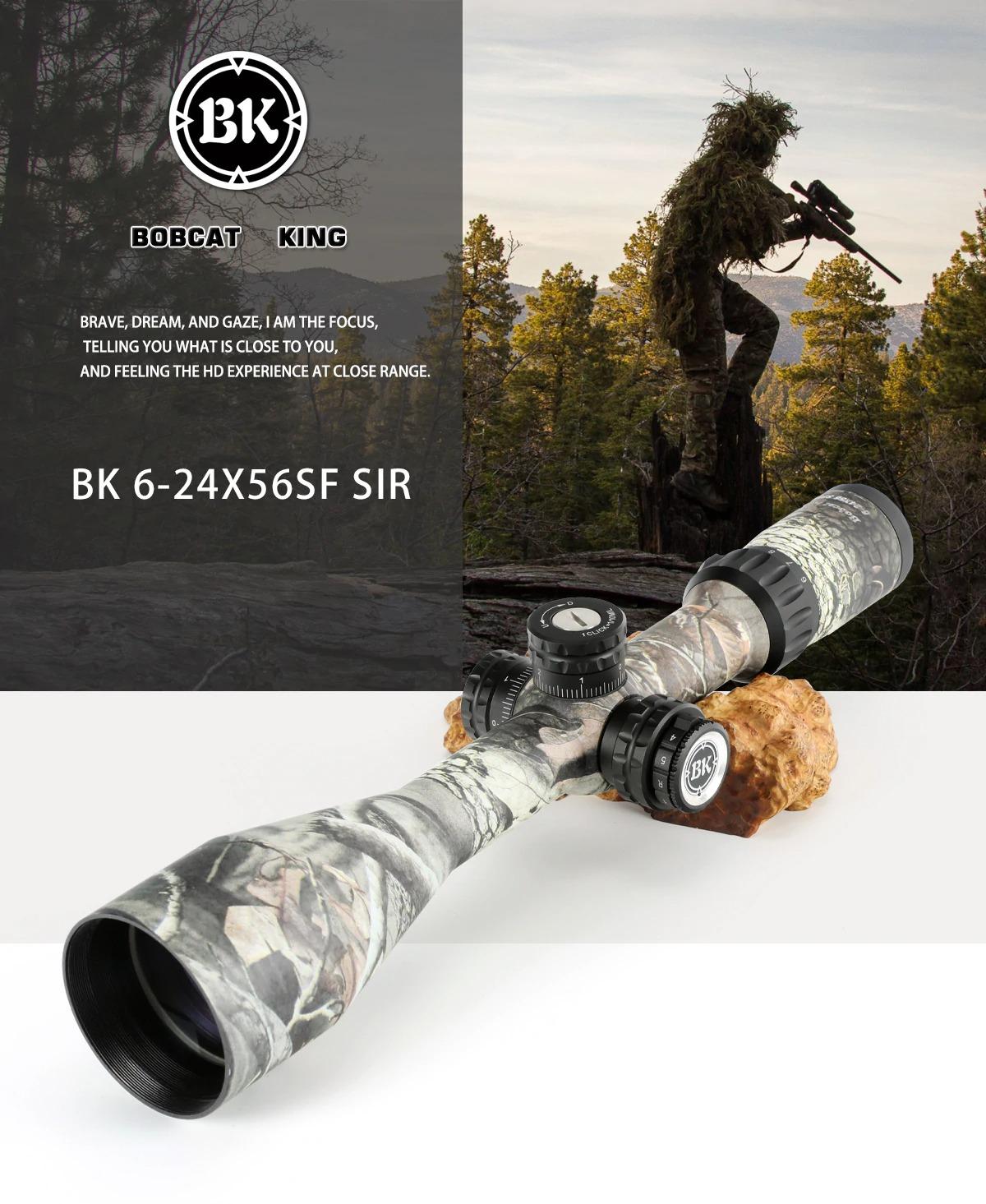 Bobcat King 6-24X56 SFIR Riflescope Airsoft Hunting Rifle Scope 1