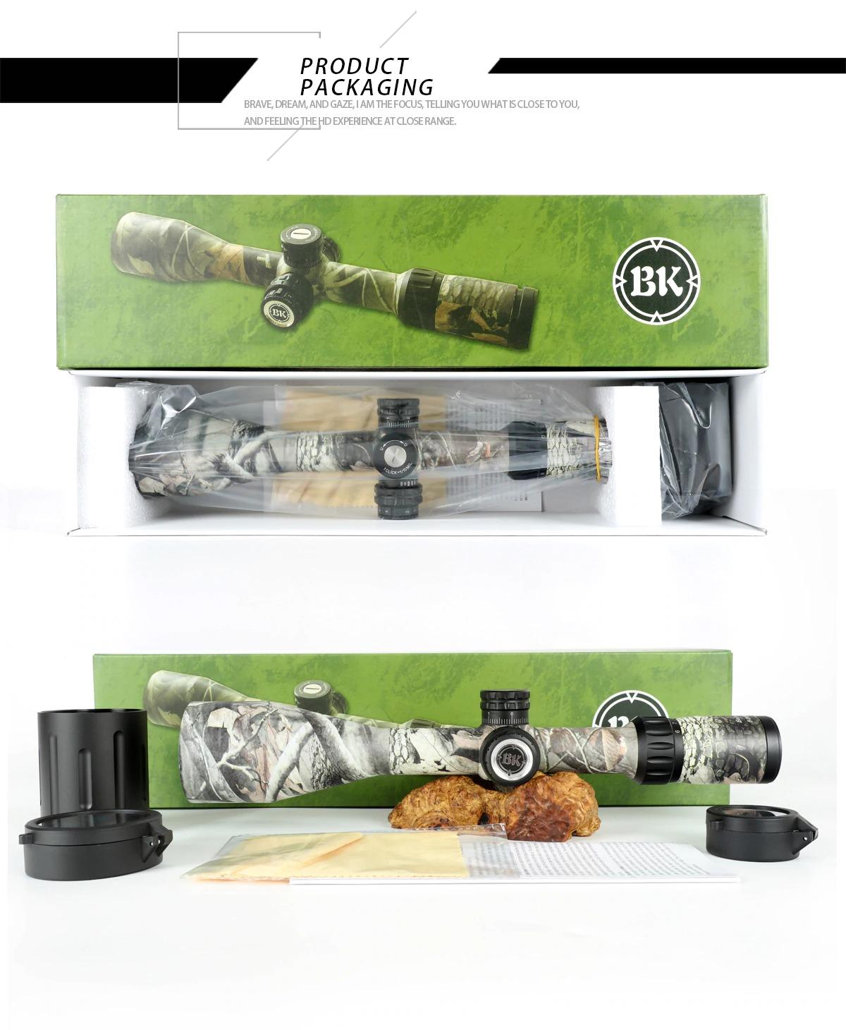 Bobcat King 6-24X56 SFIR Riflescope Airsoft Hunting Rifle Scope 8