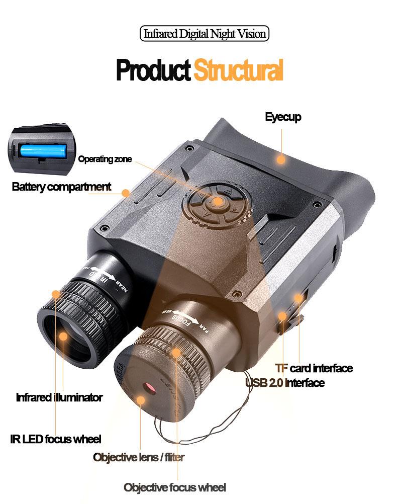 Best Night Vision Binoculars WildGuarder NV600 PRO 8